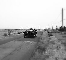 Vintage Car at Dungeness by Nigel Bangert