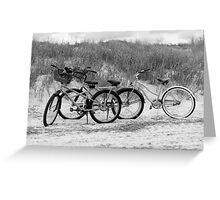 Bikes On The Beach Greeting Card
