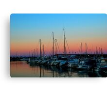 Sunset at the dock. Canvas Print