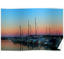Sunset at the dock. Poster