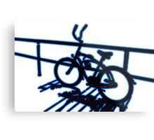 Boardwalk Bicycle Blue Metal Print