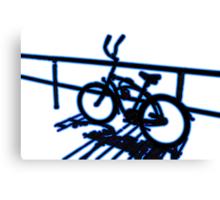Boardwalk Bicycle Blue Canvas Print