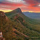 Dawn over Signal Peak, Grampians, Victoria, Australia by Michael Boniwell