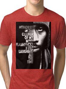 RZA Lyrics Poster Tri-blend T-Shirt