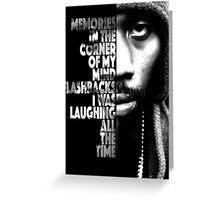 RZA Lyrics Poster Greeting Card