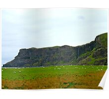 Sheep on Talisker Beach Poster