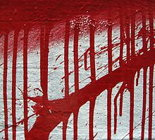 street art: blood splatter by lakazdi