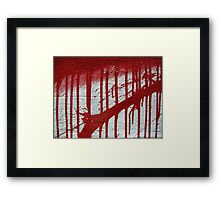 street art: blood splatter Framed Print