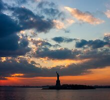 Statue of Liberty - Sunset by Howard Fung