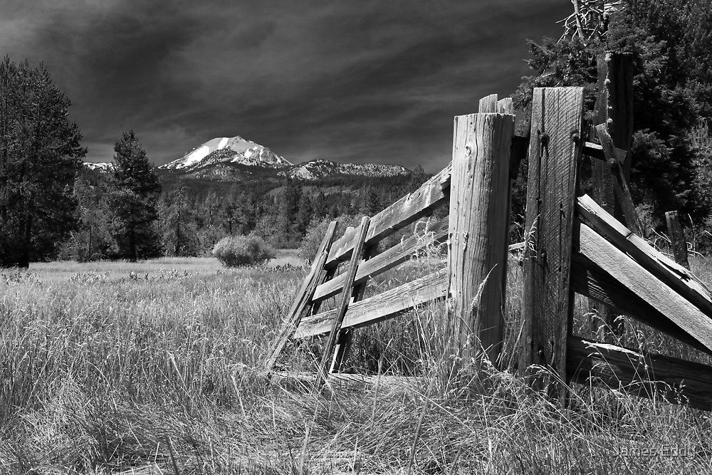 Old Fence At Mount Lassen by James Eddy