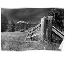 Old Fence At Mount Lassen Poster