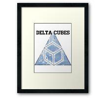 Abed's Delta Cubes Framed Print