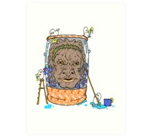 Face of Boe getting a wash Art Print