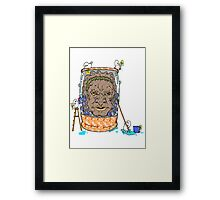 Face of Boe getting a wash Framed Print