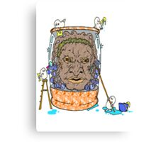 Face of Boe getting a wash Canvas Print