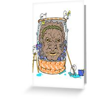 Face of Boe getting a wash Greeting Card