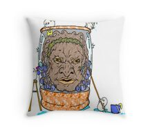 Face of Boe getting a wash Throw Pillow