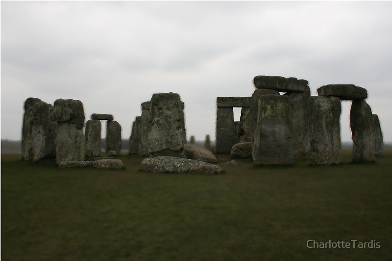 Stonehenge on Cloudy Day Edit by CharlotteTardis