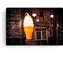 Ice Cream Stand Canvas Print