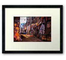 Graffiti Lane Framed Print