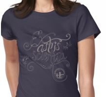 Ex astris scientia. Womens Fitted T-Shirt