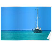 Sailing in Paradise Poster