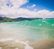 Blue Green Wave in Apollo Bay, Australia by jamjarphotos