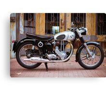 Norton 19S Vintage English Motorcycle Canvas Print