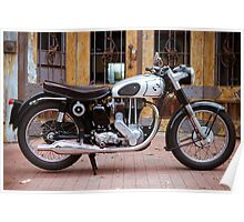 Norton 19S Vintage English Motorcycle Poster