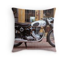 Norton 19S Vintage English Motorcycle Throw Pillow
