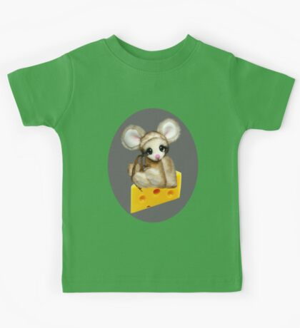 ✿♥‿♥✿LITTLE NIBBLES MOUSE ON CHEESE CHILDRENS TEE SHIRT✿♥‿♥✿ Kids Tee