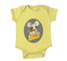 ✿♥‿♥✿LITTLE NIBBLES MOUSE ON CHEESE CHILDRENS TEE SHIRT✿♥‿♥✿ One Piece - Short Sleeve