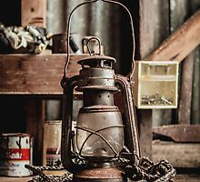 Old Vintage Rustic Lantern by jamjarphotos