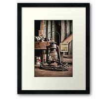 Old Vintage Rustic Lantern Framed Print