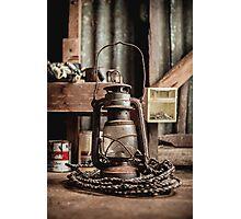 Old Vintage Rustic Lantern Photographic Print