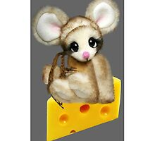 ✿♥‿♥✿LITTLE NIBBLES MOUSE ON CHEESE  IPHONE CASE✿♥‿♥✿  by ✿✿ Bonita ✿✿ ђєℓℓσ