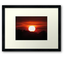 Carolina Sunset Framed Print