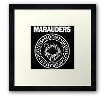 The Marauders Map Harry Potter Logo Parody Framed Print