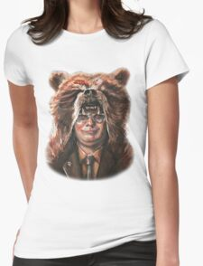 Bear Schrute Womens Fitted T-Shirt