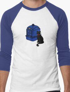 Kitty Who and the T.A.R.D.I.S Men's Baseball ¾ T-Shirt