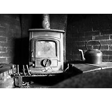 A cozy fireplace Photographic Print