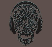 °ღ♫Cool Vintage Feel Skull Listening to Music Clothing & Stickers♪ღ° by Fantabulous