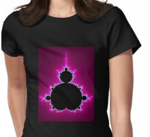 Mandelbrot Fractal - Pink Womens Fitted T-Shirt