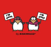 I am cool, I am cold (Two penguins) One Piece - Long Sleeve