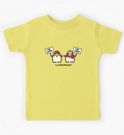 I am cool, I am cold (Two penguins) Kids Tee