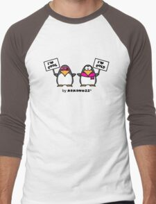 I am cool, I am cold (Two penguins) Men's Baseball ¾ T-Shirt