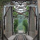 Old railway bridge over the river Glomma. Norway. by UpNorthPhoto