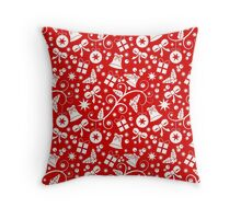 Seamless Christmas pattern Throw Pillow