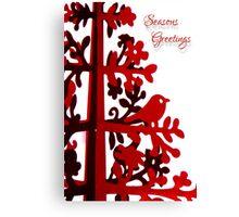 Red Seasons Greetings Canvas Print