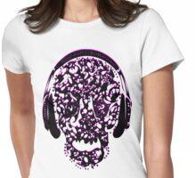 °ღ♫Cool Vintage Feel Skull Listening to Music Clothing & Stickers♪ღ° Womens Fitted T-Shirt